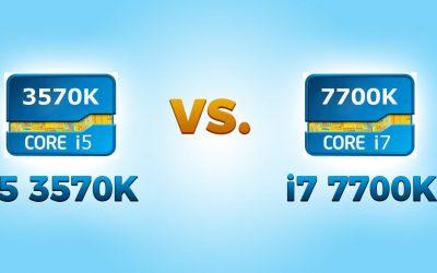 i5 3570K vs i7 7700K