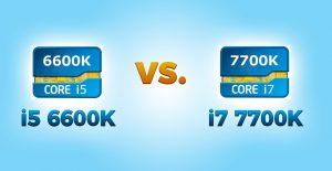 i5 6600K vs i7 7700K