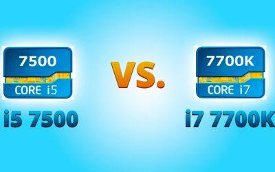i5 7500 vs i7 7700K