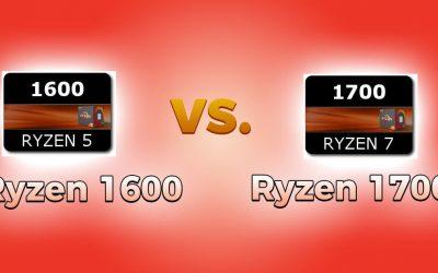 Ryzen 1600 vs 1700