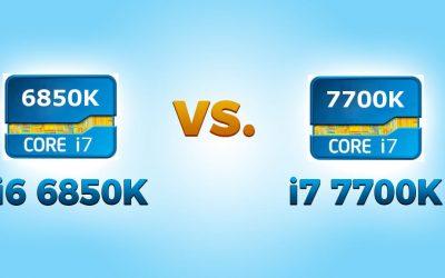 i7 6850K vs i7 7700K